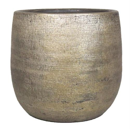 <b><span style=color:#FF0000>*New*</span></b> POT MIRA D18 H16CM INDUSTRIAL GOLD