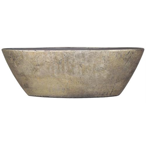 <b><span style=color:#FF0000>*New*</span></b> BOAT MIRA 67X19X23CM INDUSTRIAL GOLD