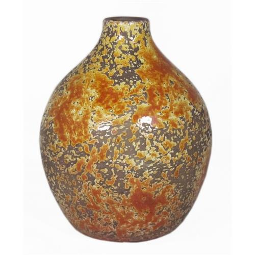 BALL BOTTLE LUUK D18 H24CM OCHRE