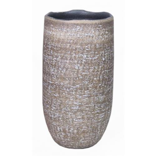 VASE JORIS D17.5/19.5 H35CM BROWN