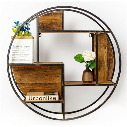 WALL DECORATION ROUND INDUSTRIAL D70X70X17.5CM